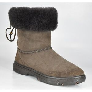 UGG Ultimate Bind Brown Suede Fur Winter Boots